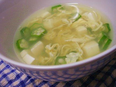 オクラのとろとろスープ