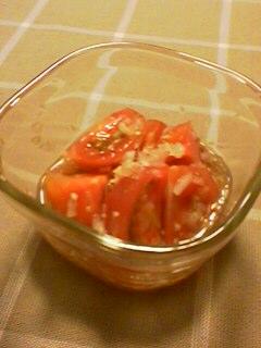 トマトのジンジャードレッシングかけ