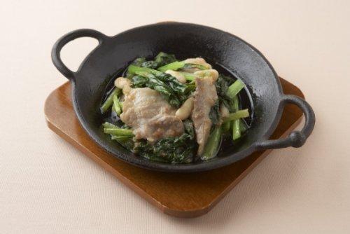 小松菜の梅味噌酢炒め