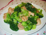 鶏肉とブロッコリーの香味炒め