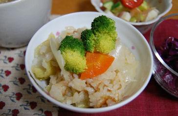 ブロッコリーの炊き込みご飯