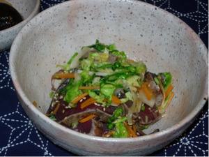 カツオタタキの野菜マリネ