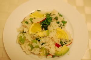 湘南ゴールドと菜の花のちらし寿司